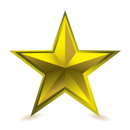 star shape: Gold star award ideal gift icon for golden performance