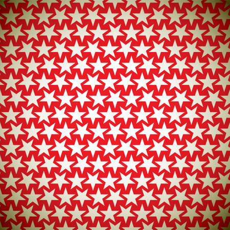warped: Seamless star red background pattern with gold elements