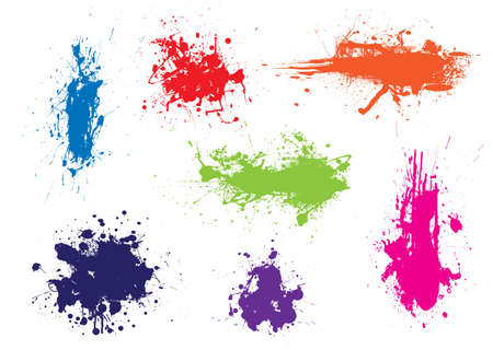 dribble: Ink splat grunge effect with dribble and drops