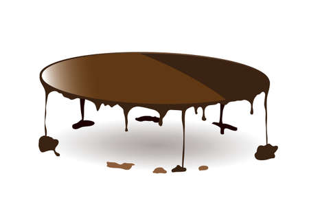fudge: Dribble abstract concept with puddles of sauce