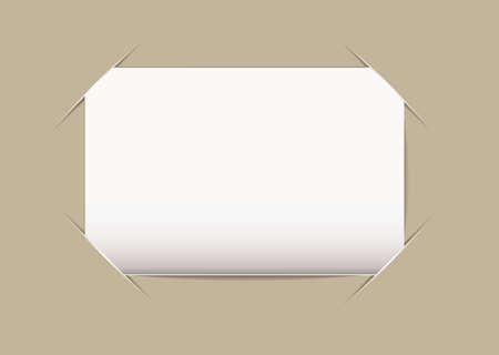 Plain blank business card stuck on beige card background photo