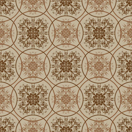seventies: Seamless seventies retro inspired floral background
