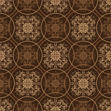 seventies: Retro styled seventies wallpaper seamless fit background pattern