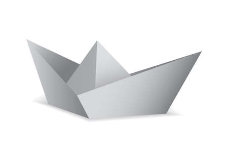 White paper boat folded origami concept Stock Photo - 9923680
