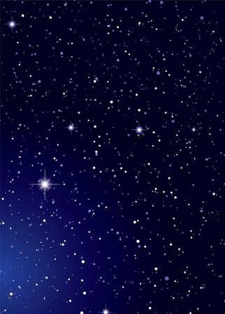 Dark nights sky with stella galaxy and twinkle stars Standard-Bild
