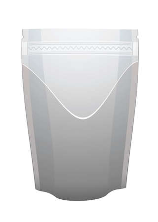 packaging industry: Silver foil food pouch or bag ideal for coffee