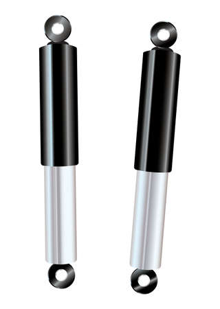 Set of two car shock absorbers for upgrade Stock Photo - 10050390