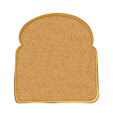 Slice of wholemeal toast with space for text Stock Photo - 10050394