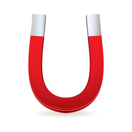 iman: Ilustrado imán rojo con forma de herradura