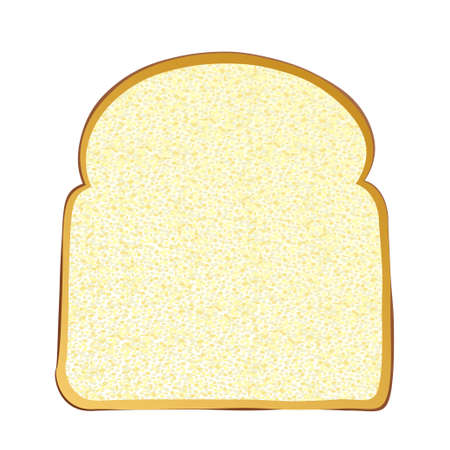 bread slice: Single slice of wholemeal white bread with crust Stock Photo