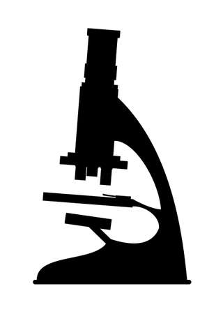 microscopy: Abstract black silhouette Science microscope Stock Photo