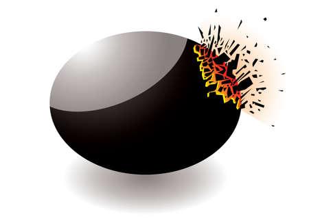 shrapnel: Black exploding stone icon with shrapnal elements