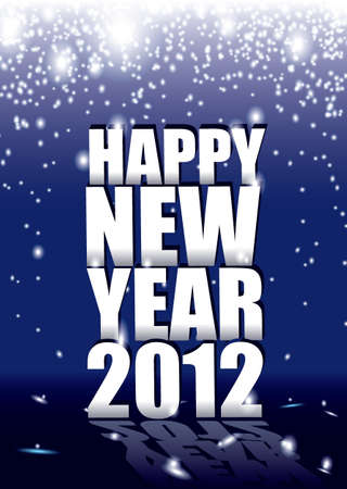 New year sparkle background with 2012 sign and reflection photo