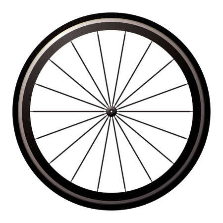 bike wheel: Aerodynamic front road or time trial wheel with tyre