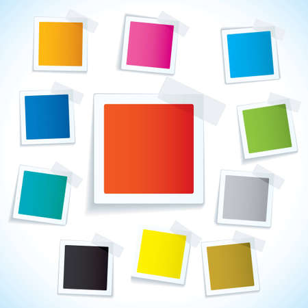sticky notes: Collection of paper notes with copy space for text Stock Photo