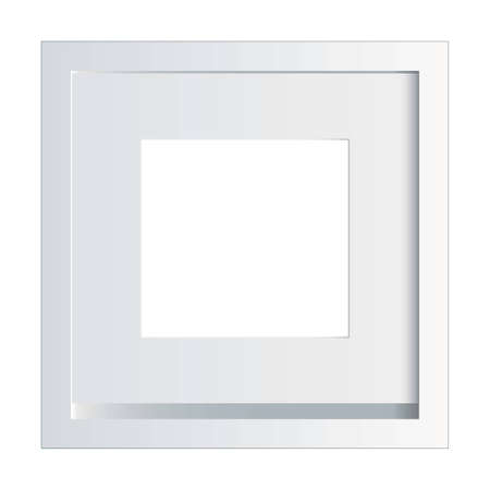 painted wood: White picture or photo frame made of painted wood