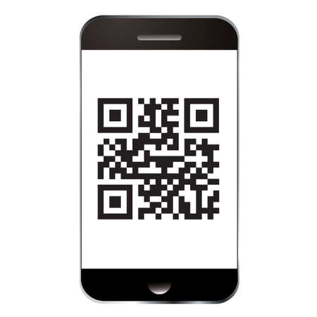 Qr code for scanning with smart mobile or cell phone photo