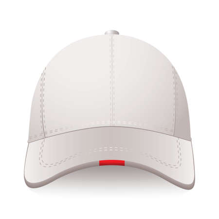 White sports cap with red label and room for your text Stock Photo - 11995910
