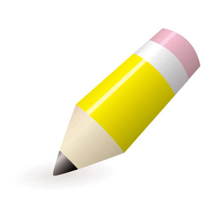 ead: Yellow lead pencil with pink rubber and shadow