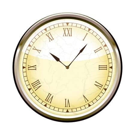 reloj antiguo: Antiguo reloj de moda con números romanos Foto de archivo
