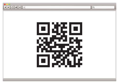 up code: Internet browser concept with QR code for product identification