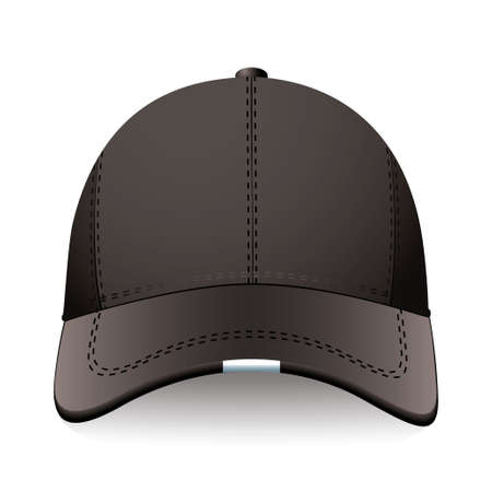 Modern sports or baseball cap in black with advert space photo