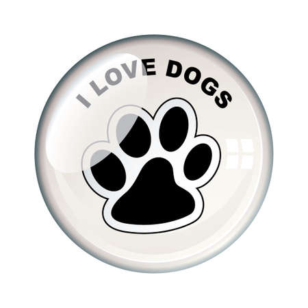 dog paw: Show your love for dogs with this paw print bacge icon