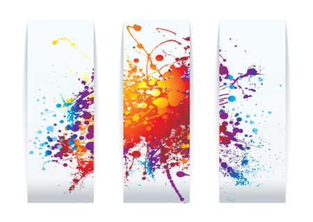 raibow: Abstract raibow ink splat background business card concept