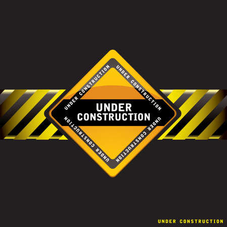 Black under construction background with copy space ideal web site template Standard-Bild