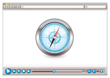 browsers: Internet web browser concept with compass navigation icon Stock Photo