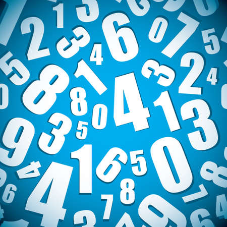 Blue background with seamless numbers pattern and shadow Stock Photo - 13348094