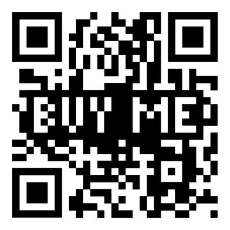 Simple modern qr code with buy me for shopping icon photo