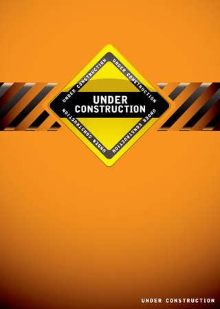 Plantilla de fondo de color naranja para una página web de la construcción Foto de archivo - 13348089