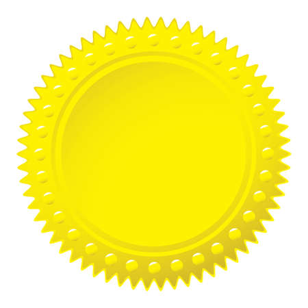 Golden yellow wax seal for a certificate or award photo