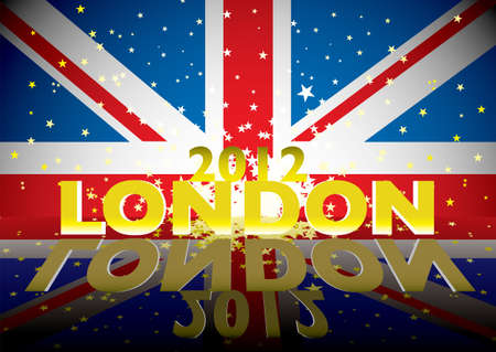 Modern union flag for london 2012 with stars and explosion Stock Photo - 14053724