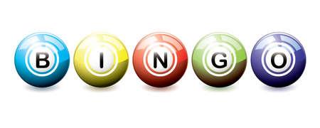 Tarjeta De Bingo Y Bolas Con Los Números Aislados Sobre Fondo Blanco ... 7328723a280cb