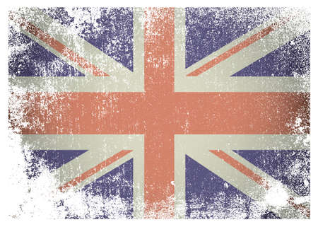 British flag with grunge aged effect ideal background Stock Photo - 14872335