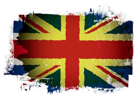Grunge effect british union jack flag Stock Photo - 14872334