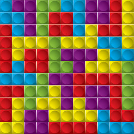 board game: Tetris colorful game board with shapes that make great background Stock Photo