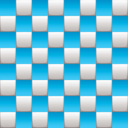 checker: Blue and white squares on a seamless checkered background Stock Photo