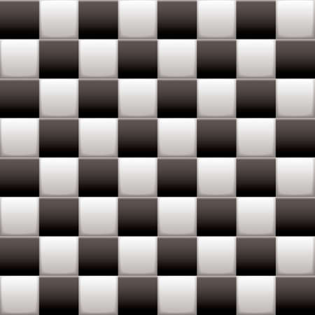 Black and white 3d checkered flag background with seamless tile repeat Stock Photo - 15564658