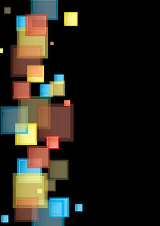 Fondo negro del arco iris plantilla de presentaci�n con cuadros abstractos Foto de archivo - 15564645