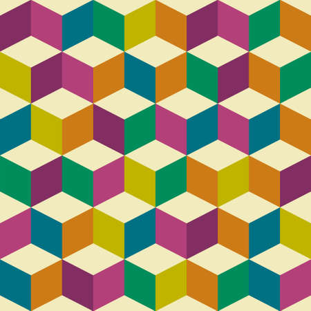 70s: Seventies inspired jester background with seamless repeating tile background