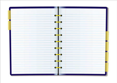 Two pages of diary blank with rulled lines photo