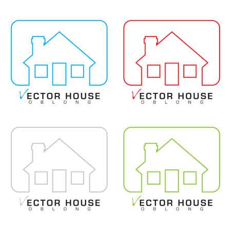 modern huis: Het verzamelen van bungalow woningen met schets illustraties Stock Illustratie