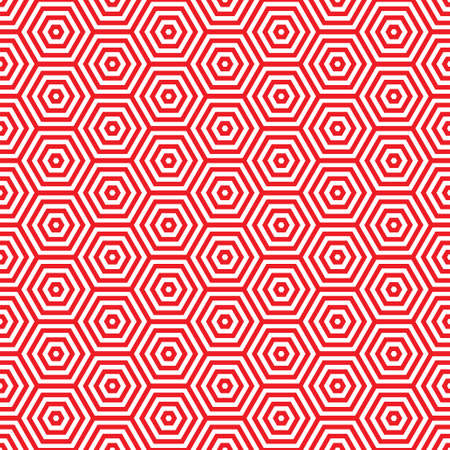 70s: Retro red seamless pattern background