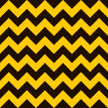 Yellow and black warning seamless tile background with chevron