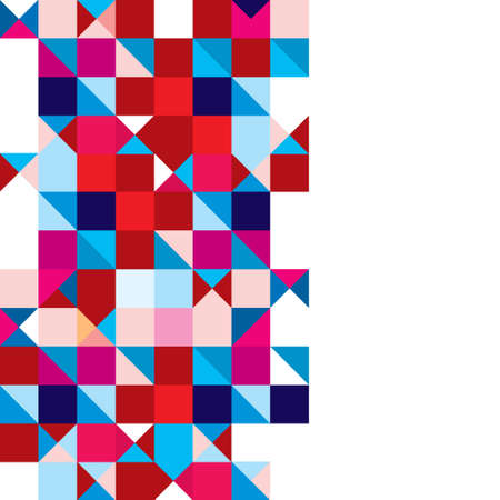 tricolour: Square abstract background with triangle element and copyspace