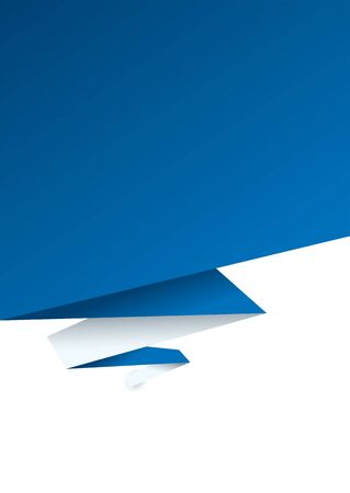 blue paper background with white backing and zig zag design