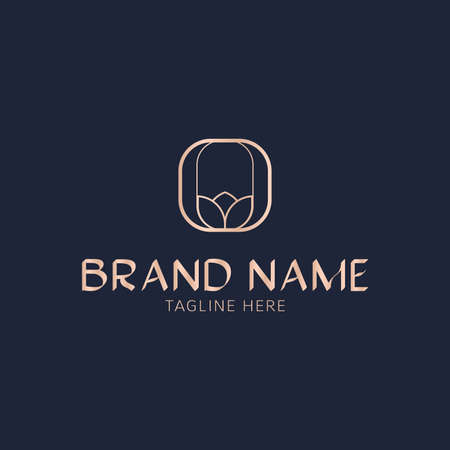 Initial letter O luxury vector logo template. Fit for wedding business brand, fashion, boutique, florist shop, floral and botanical. Vector illustration